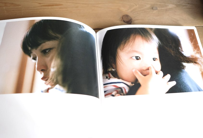 libro con fotos de niño