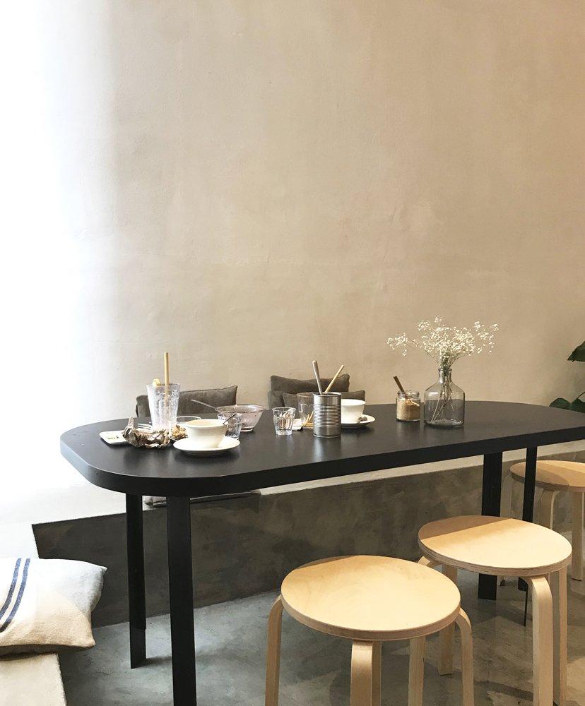mesa en café restaurante