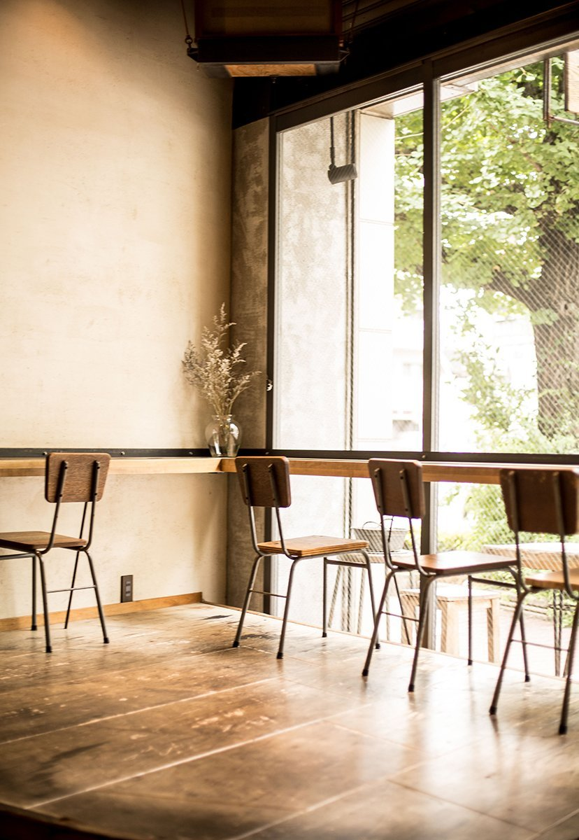 mesas en café